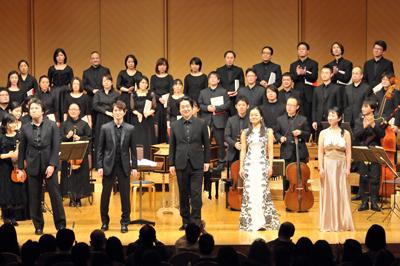 東京の第一生命ホールにてメサイアを合唱